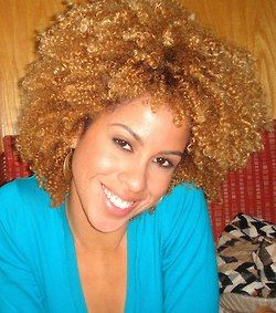 Beautiful hair color and it blends well with her skin tone.