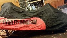 Harley Davidson Softail,DYNA, motorcycle cover Black & Orange Factory!