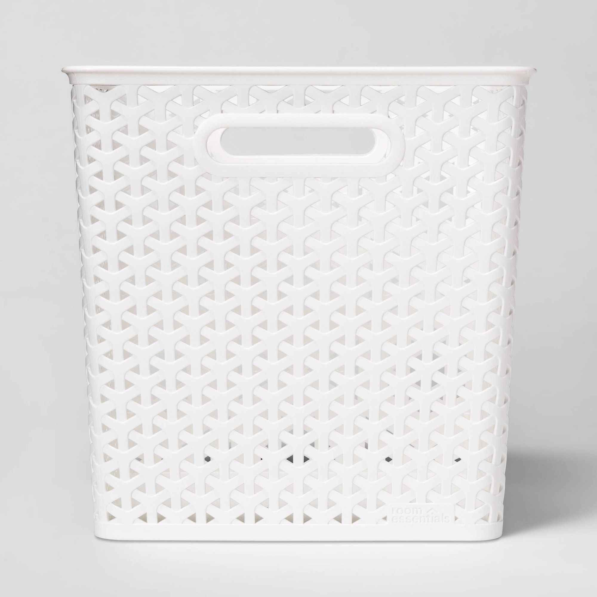 Y Weave Basket Bin White 11 Room Essentials Basket Weaving Room Essentials Basket Labels