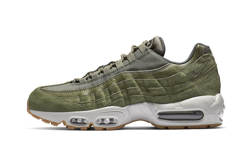 the best attitude add49 4dad0 nike air max 95 olive canvas release footwear shoes sneakers drops