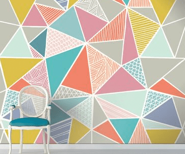 20+ Amazing Geomatric Wall Art Paint You Can Try - Eweddingmag.com