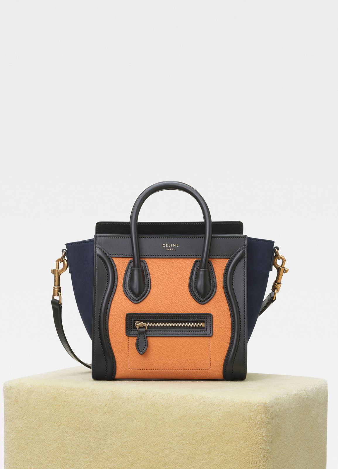 30a310aefa Nano Luggage bag in multicolour baby grained calfskin