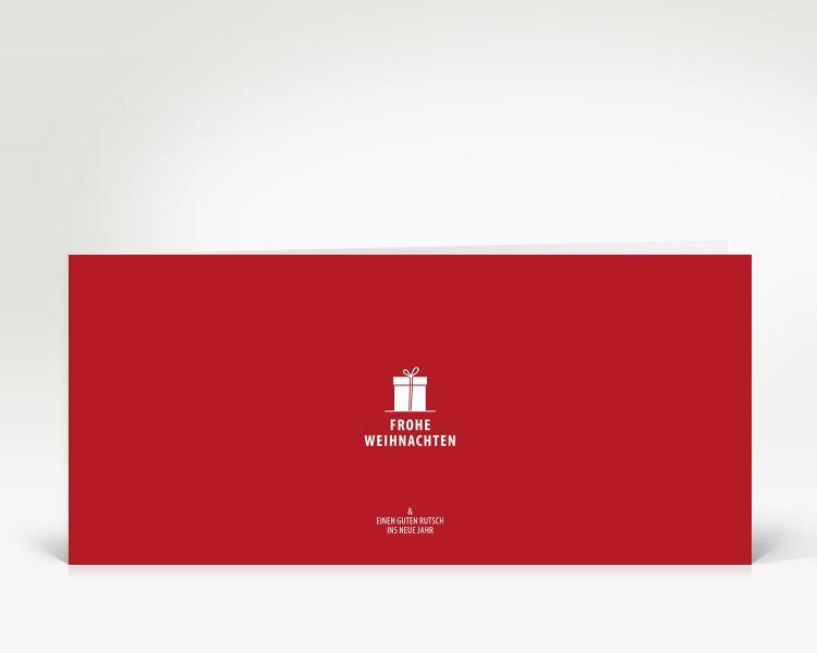 Weihnachtskarten Blanko.Weihnachtskarte Kleines Geschenk Auf Rot Alle Weihnachtskarten