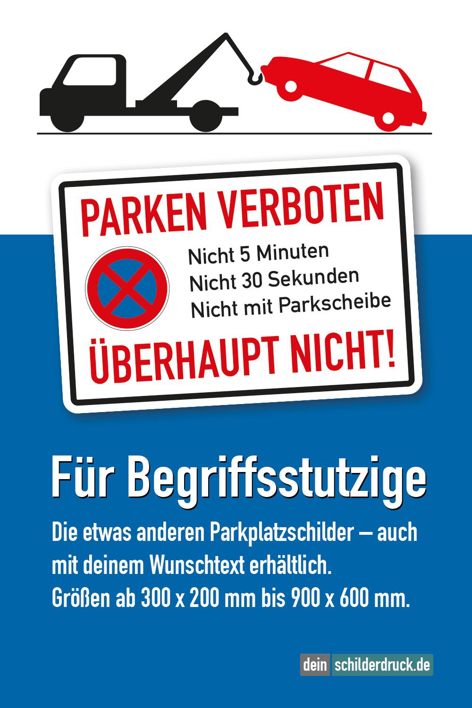 halteverbotsschild parken verboten  nicht 5 minuten
