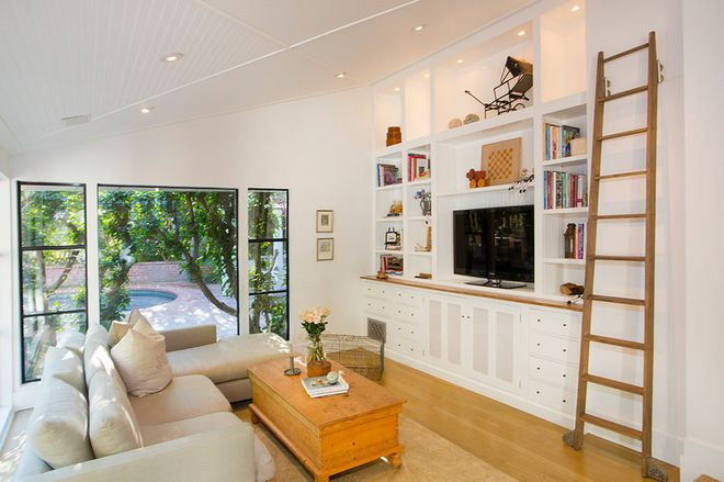 Eclectic Family Room By Thea Home Inc