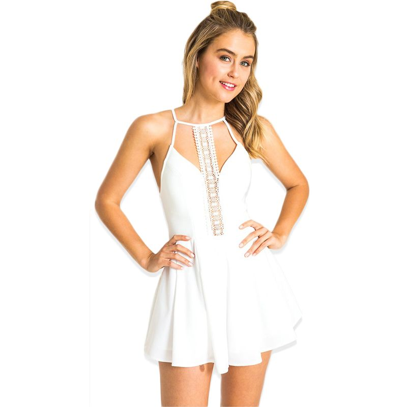 Sexy white jumpsuits for women