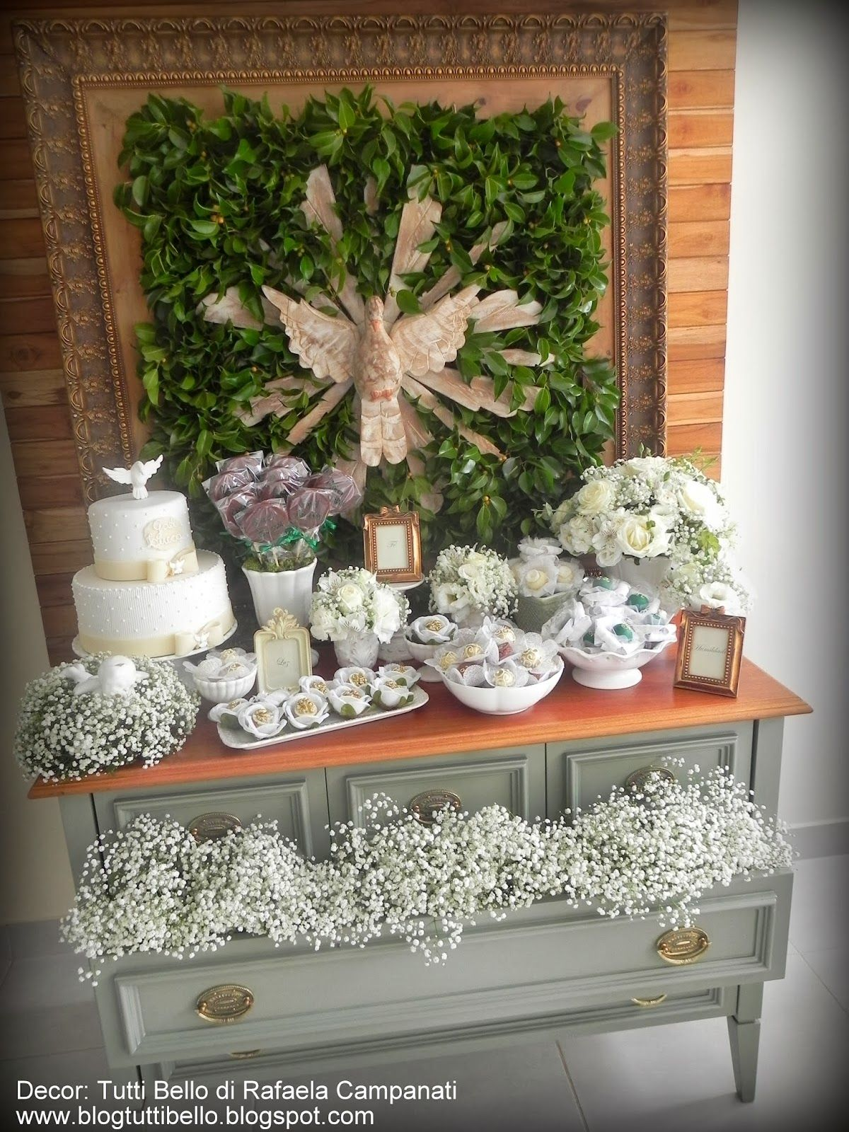 Mesa r stica de batizado batizados pinterest mesa for Manualidades para casa rustica