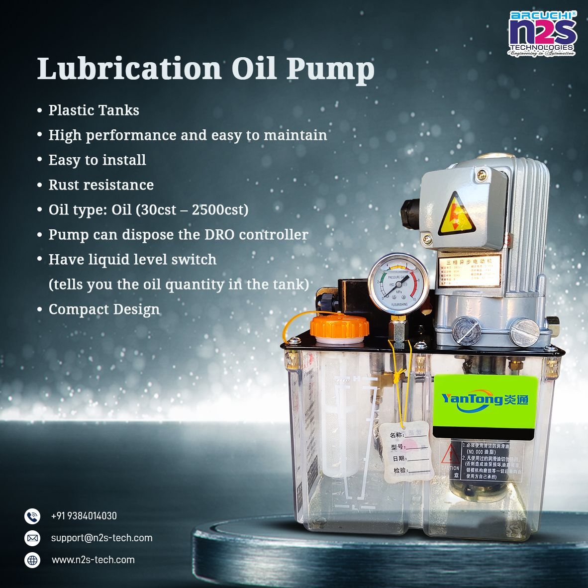 Lubrication Oil Pump Lubricants Oils Plastic Injection Moulding Machine