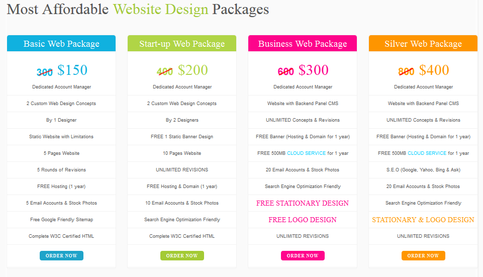 Custom Logo And Web Design Packages Prices Web Design Web Design Packages Packaging Design
