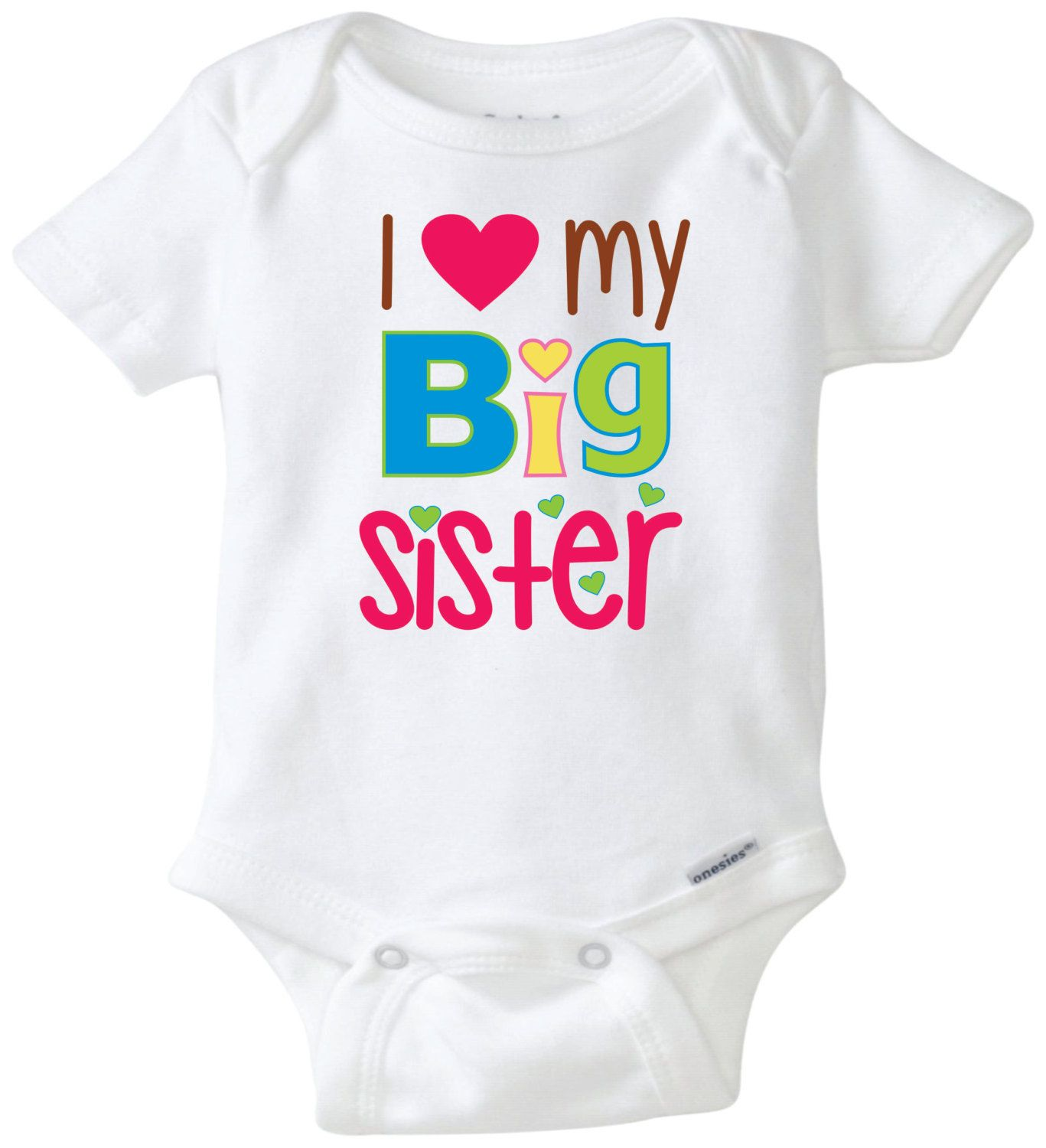 I Love My Big Sister Unisex Baby Clothing Carter Bodysuit
