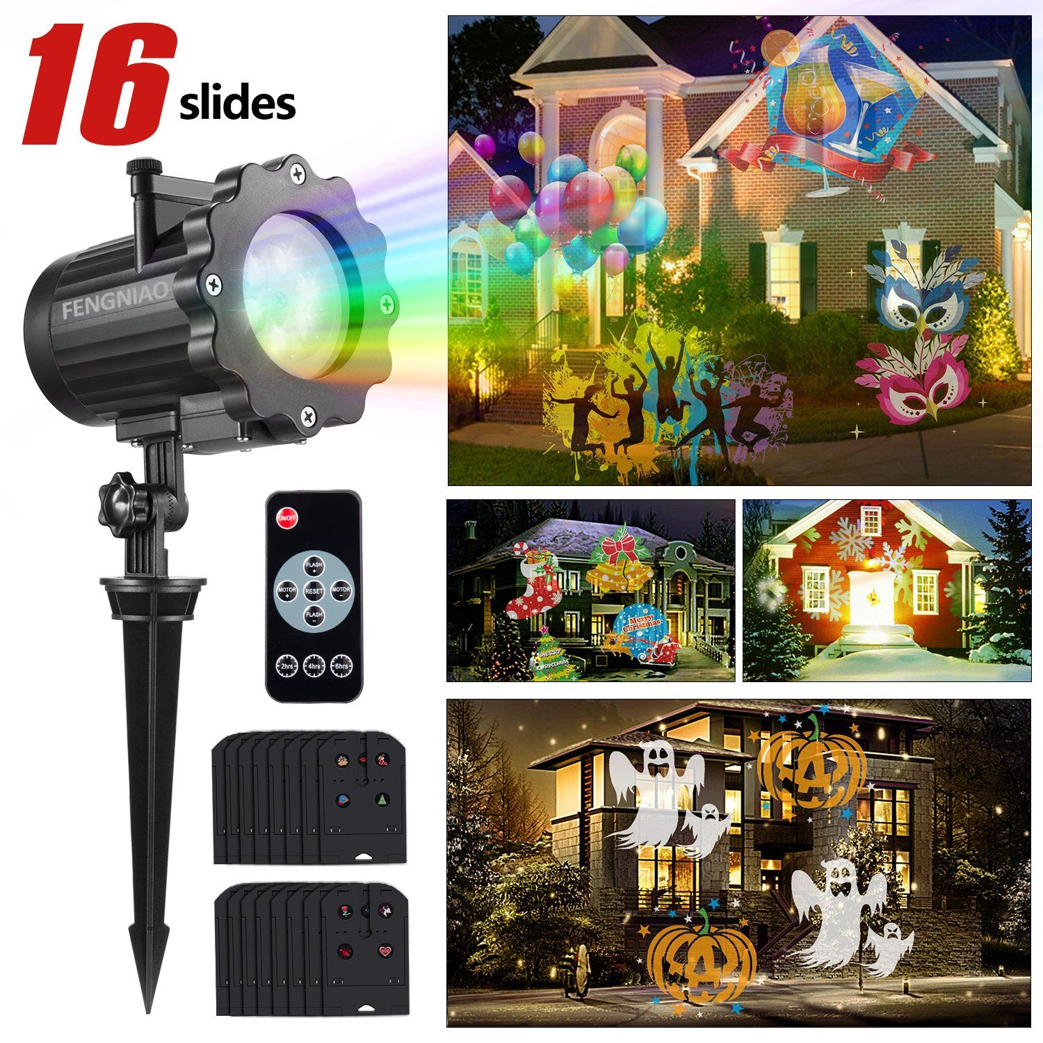 Led Christmas Light Projector, FengNiao led projector light show ...