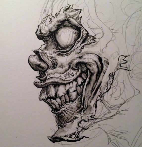 Pin By Fabian Victor On Artsy Surrealism Drawing Skulls Drawing Creepy Drawings
