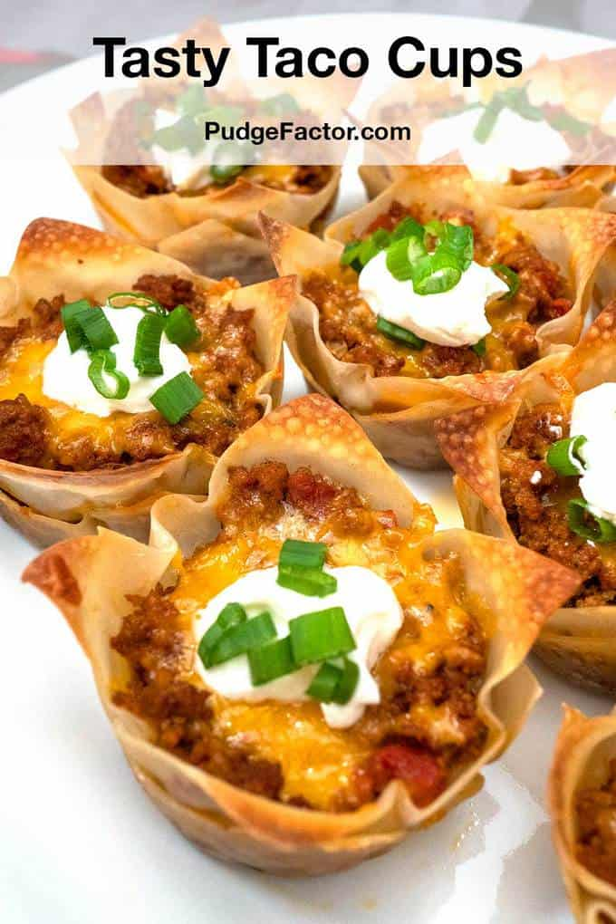 Tasty Taco Cups Recipe In 2020 Taco Cups Tasty Easy To Make Appetizers