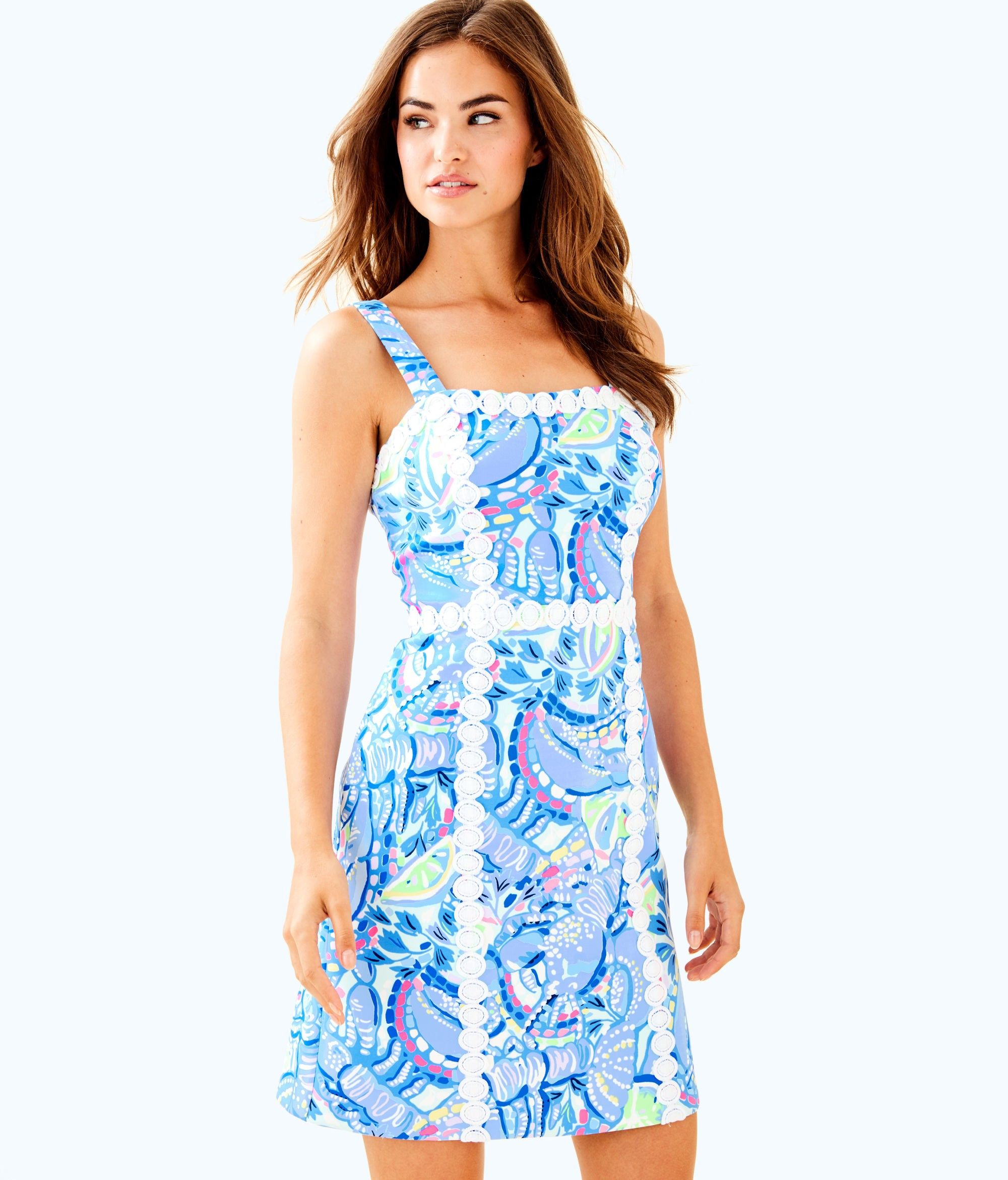 086bcd3a0177 Lilly Pulitzer Janelle Shift Dress - 4 Gold | Products | Dresses ...
