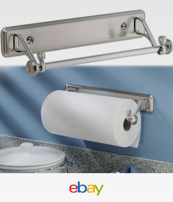 New York Kitchen Wall Mount Paper Towel Holder Stainless Steel Finish 615867175817 Ebay Paper Towel Holder Towel Holder Paper Towel Holder Kitchen
