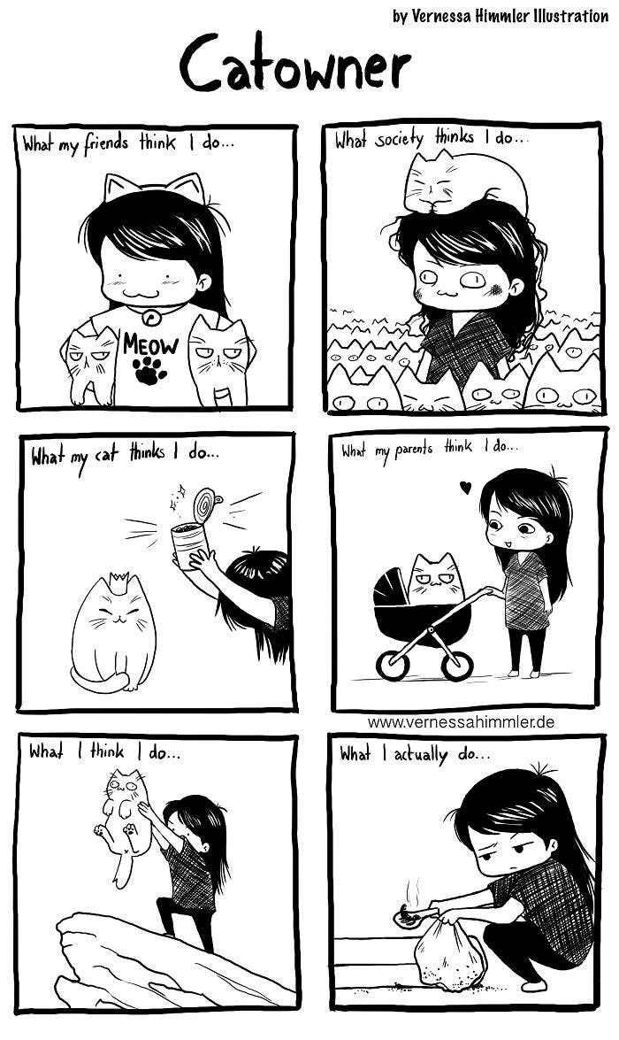 This Artist's Comics About The Struggles Of Being A Cat ...
