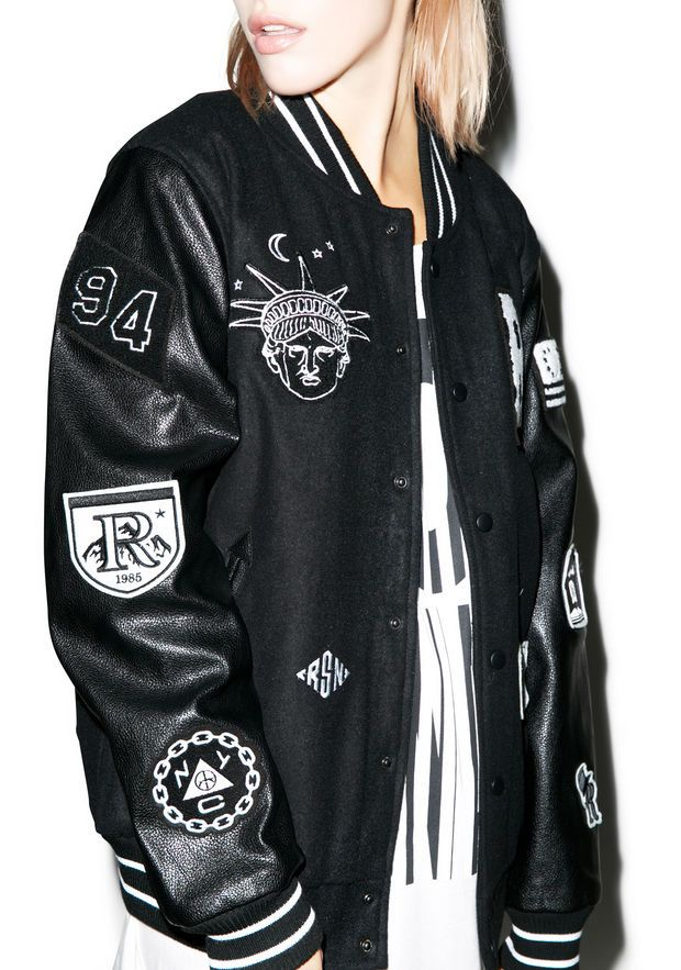 Reason Bad Kids Varsity Jacket Black/White