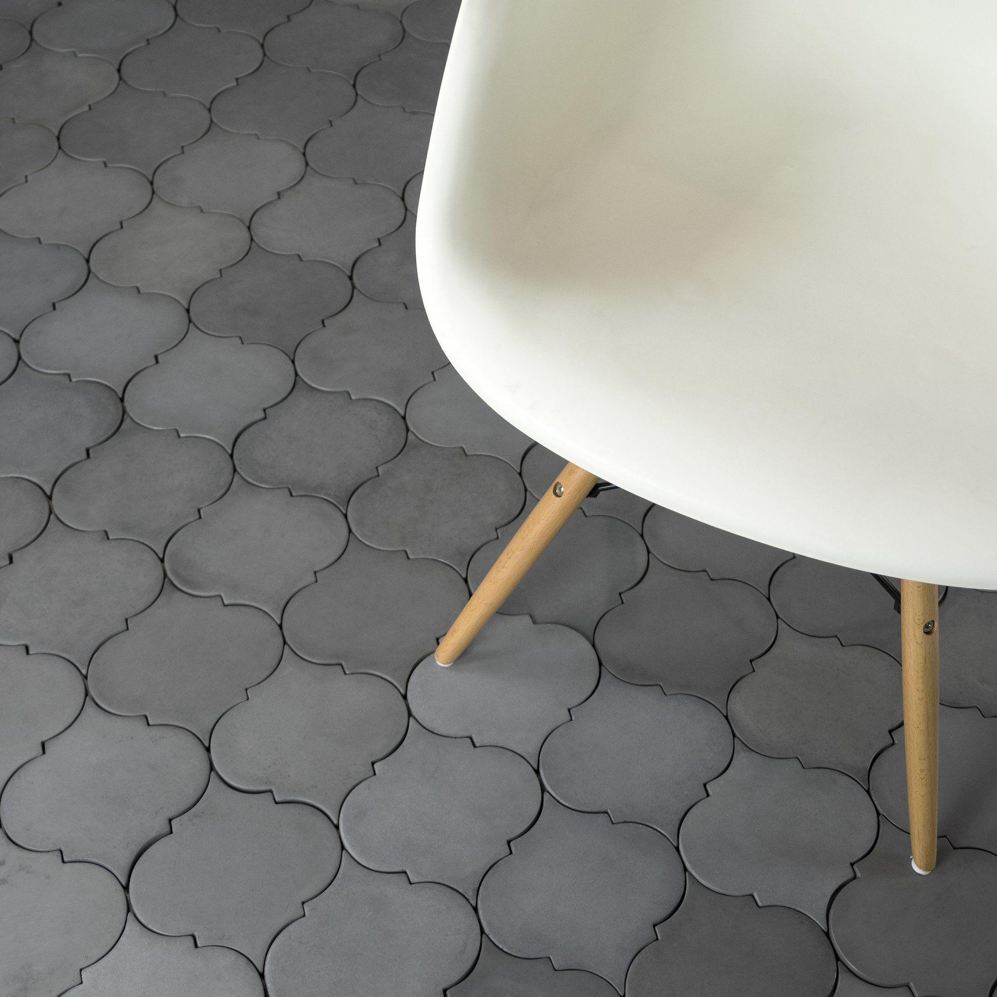 Urban Concrete Versaille Arabesque 5 X 5 Cement Mosaic Tile