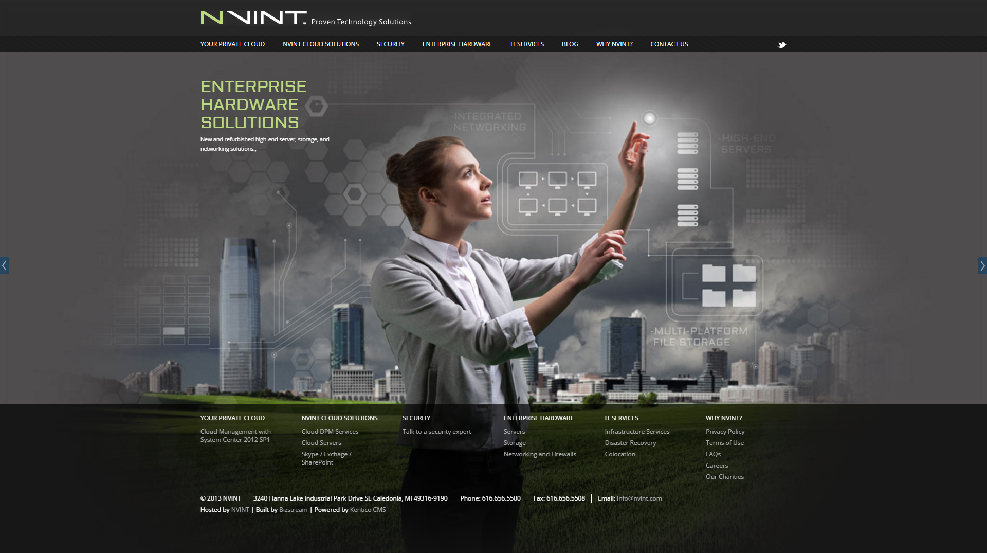 BizStream was able to configure and customize Kentico's out-of-the-box features to deliver a slick, polished design with NVINT's new site.