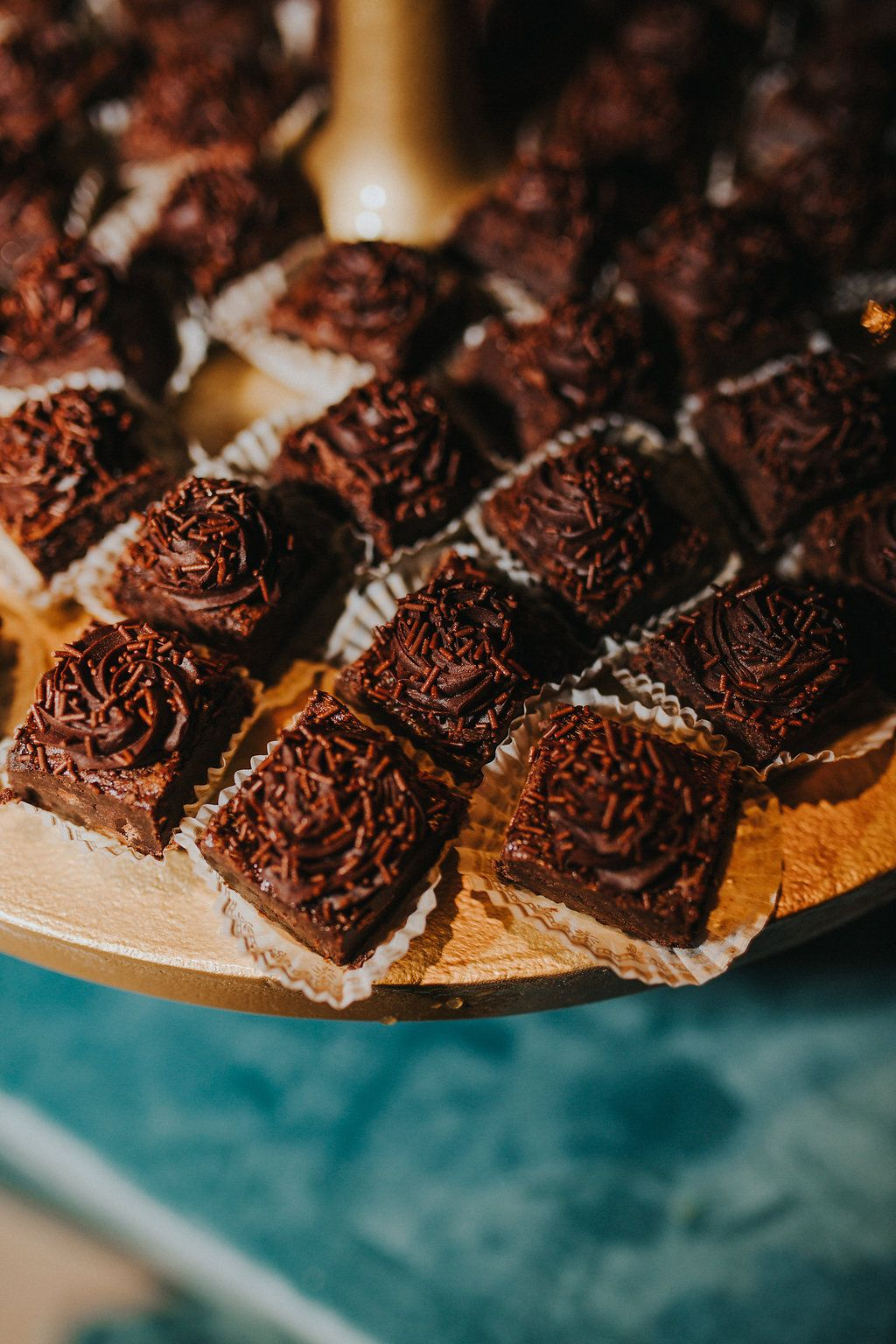 Brownie bites photo avickeryphoto wedding bakery
