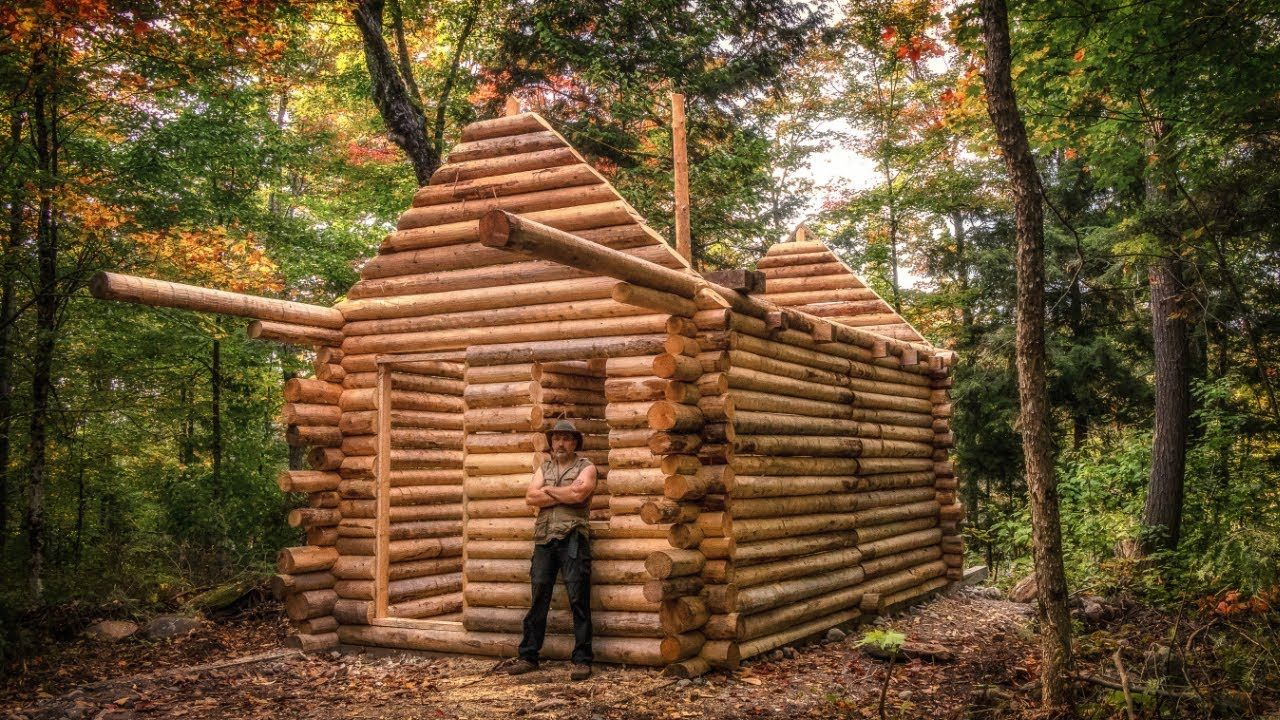 Log Cabin Build You Can Do This Too YouTube How to