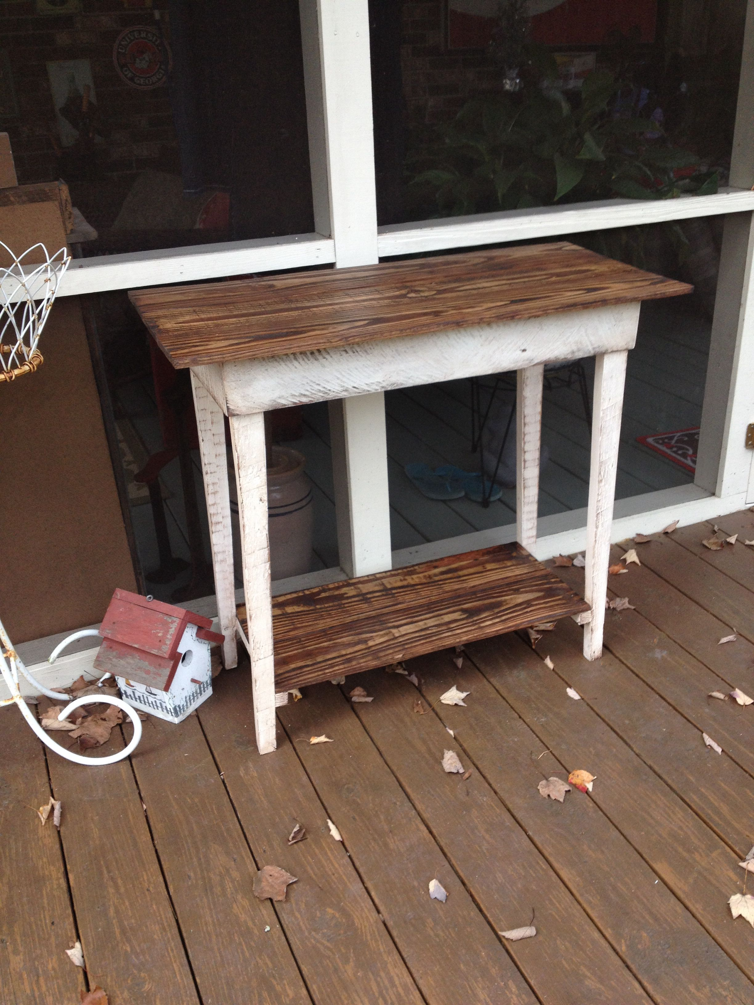 100% pallet table | Pallet table, Home decor, Entryway tables