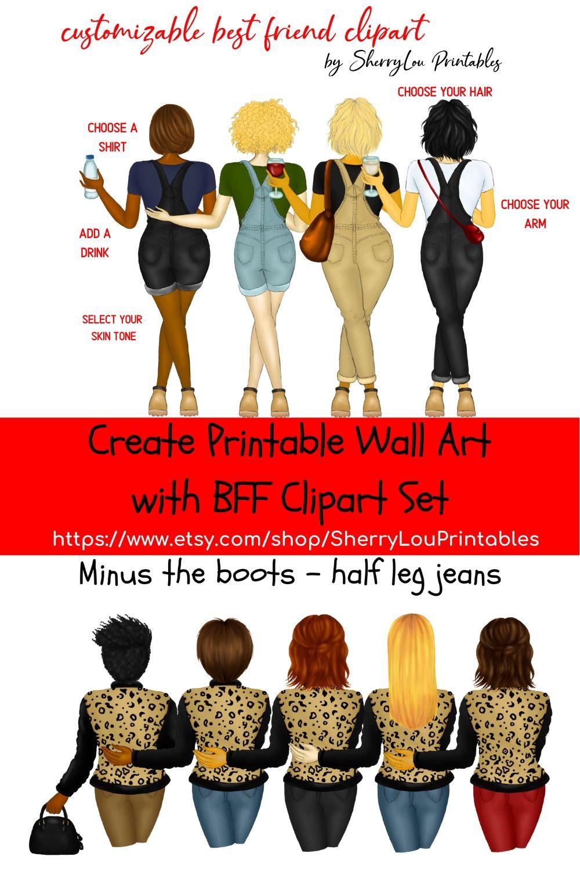 20+ Best friend custom clipart ideas