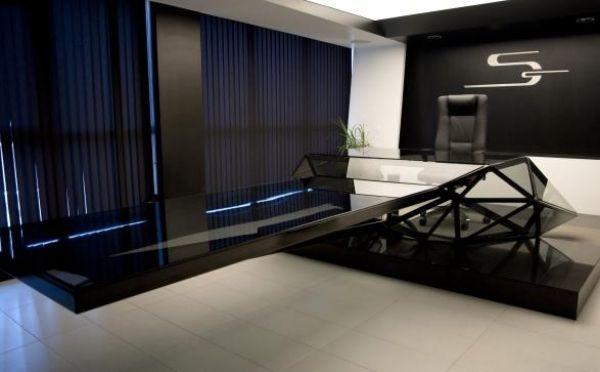 Futuristische Möbel-Konferenzraum Tisch-schwarz   Black(interior ...