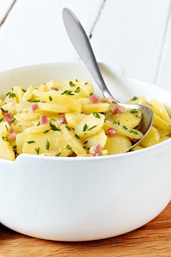 Photo of Classic potato salad with broth