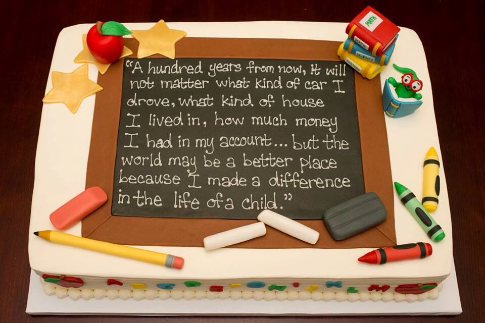 Teacher appreciation cake Cakes made by my sister Ohana Bake Shop