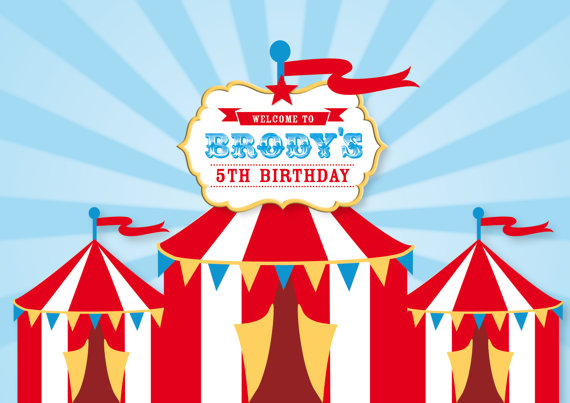 CIRCUS Backdrop Printable Artwork