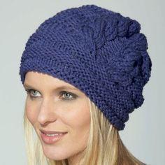 patron gratuit bonnet tricot femme