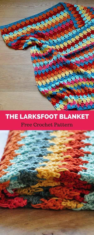 The Larksfoot Blanket Free Crochet Pattern Crochet Knit