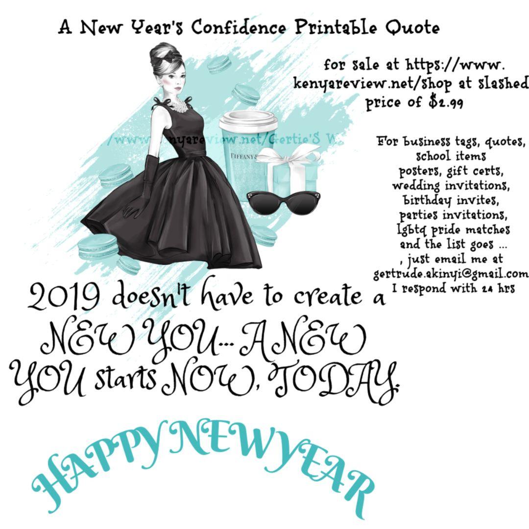 New year's printable inspirational ideas to kickstart an