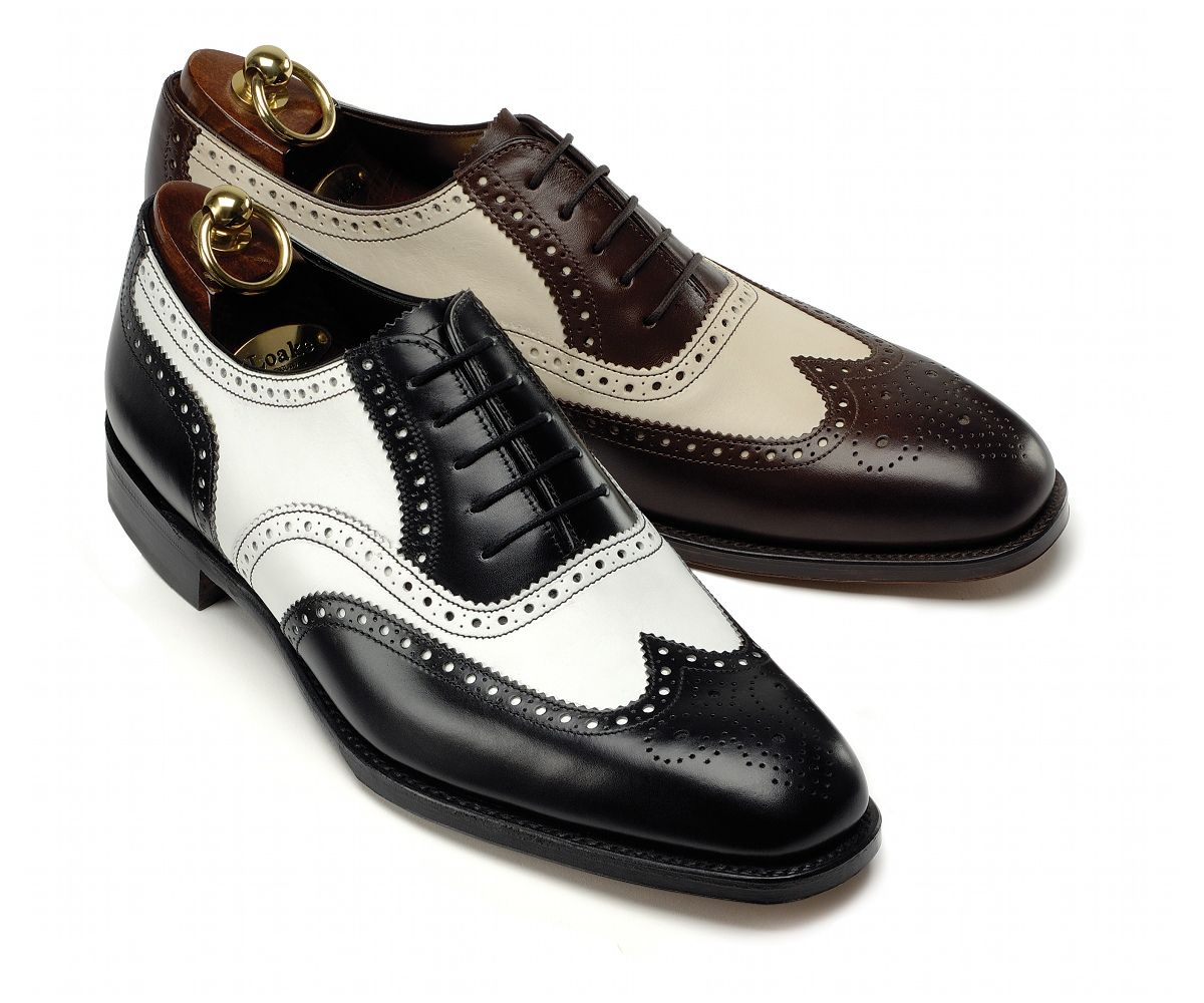 Premium two tone brogue shoe, made in England.(이미지 포함