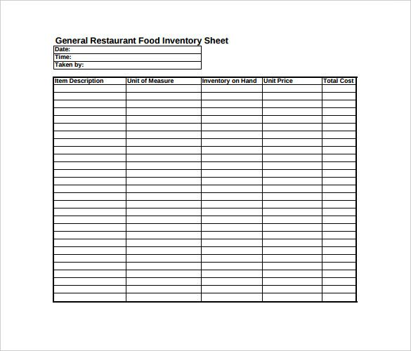 spreadsheet templates dc design Food  Lifestyle  Travel - Restaurant Inventory Spreadsheet Template