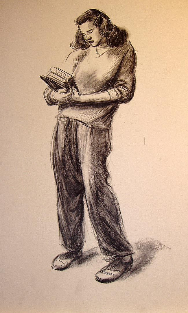 wardkimball:    234. Figure drawing by Ward, ca. mid-1940s.