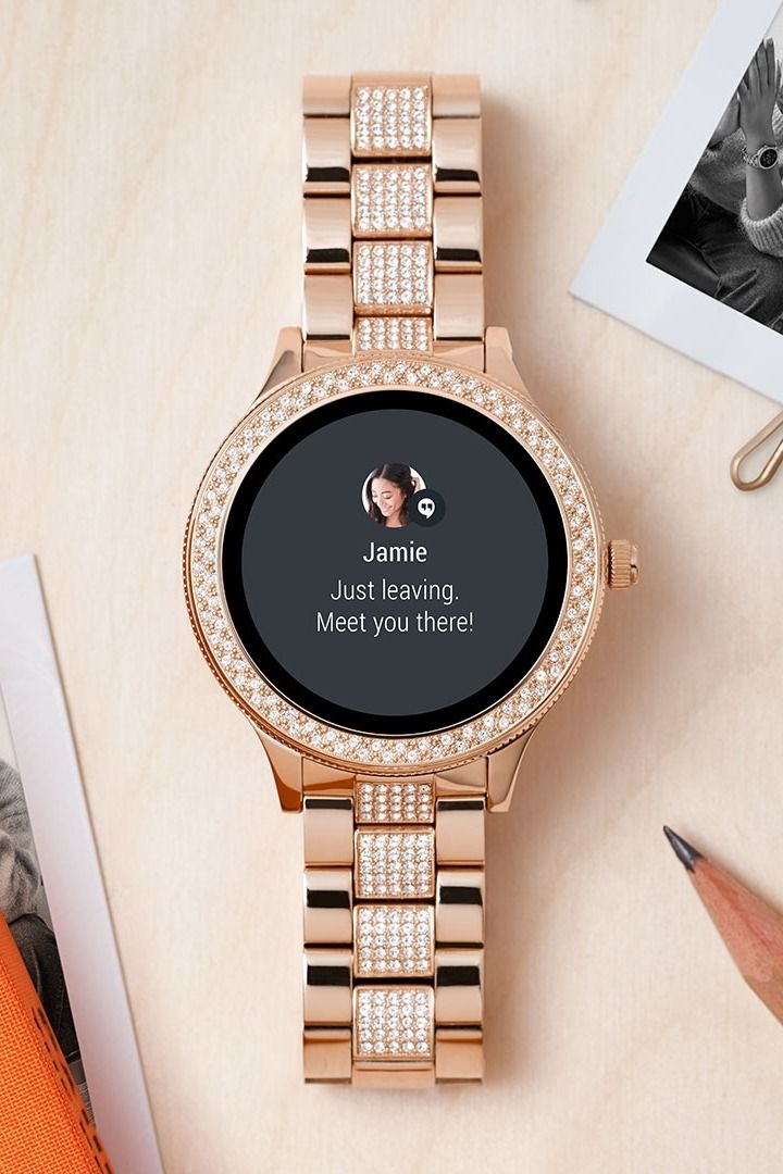 Gen 3 Smartwatch Venture Rose Gold Tone Stainless Steel Smartwatch Women Rose Gold Watches Pretty Watches