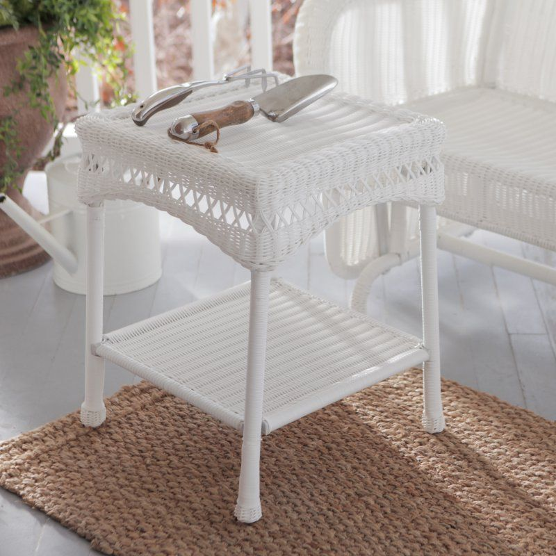 Coral Coast Casco Bay Resin Wicker Side Table Products Pinterest