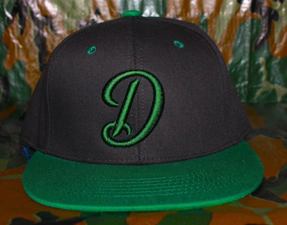 Color: Black/Forest GreenStyle: SnapBackDesign: Script D100% CottonMade in USA