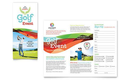 Charity Golf Event Brochure Template  David Templte