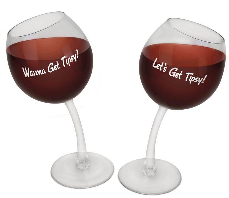 Tipsy Wine Glasses   Stupid.com