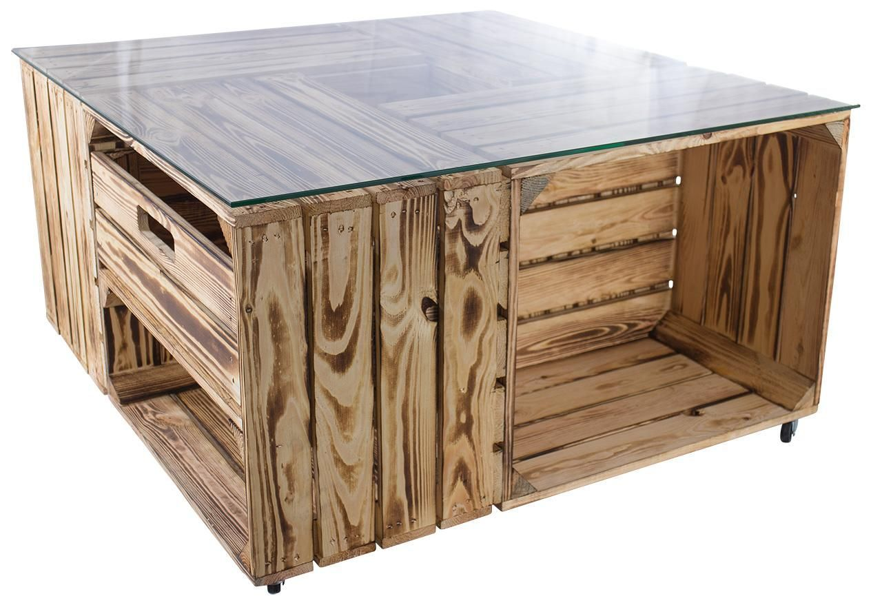 ᐅ Tisch Aus Obstkisten Mit Glasplatte Schublade In 2020 Home