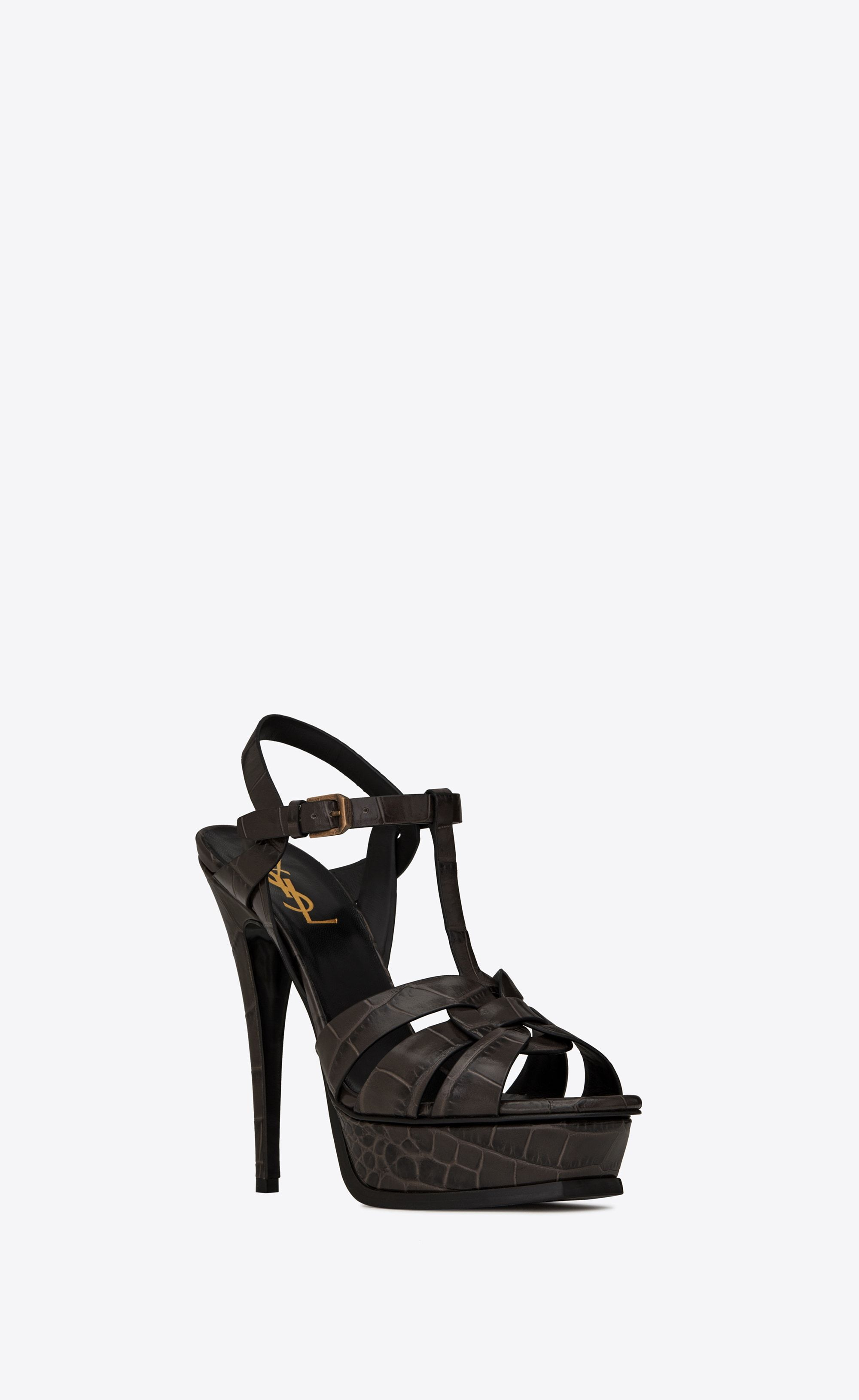 51f4c98538 TRIBUTE Sandals in embossed crocodile leather in 2019 | Shoes ...