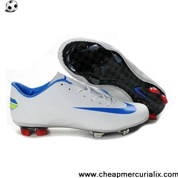 c30dea74b1c New Nike Mercurial Vapor Superfly Iv FG White Blue Red Soccer Shoes On Sale
