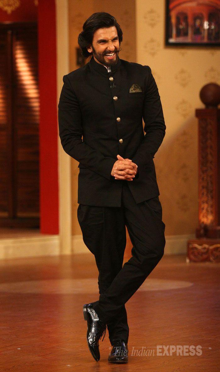 Ranveer Singh Was Dashing In A Full Black Jodhpuri Suit -6807