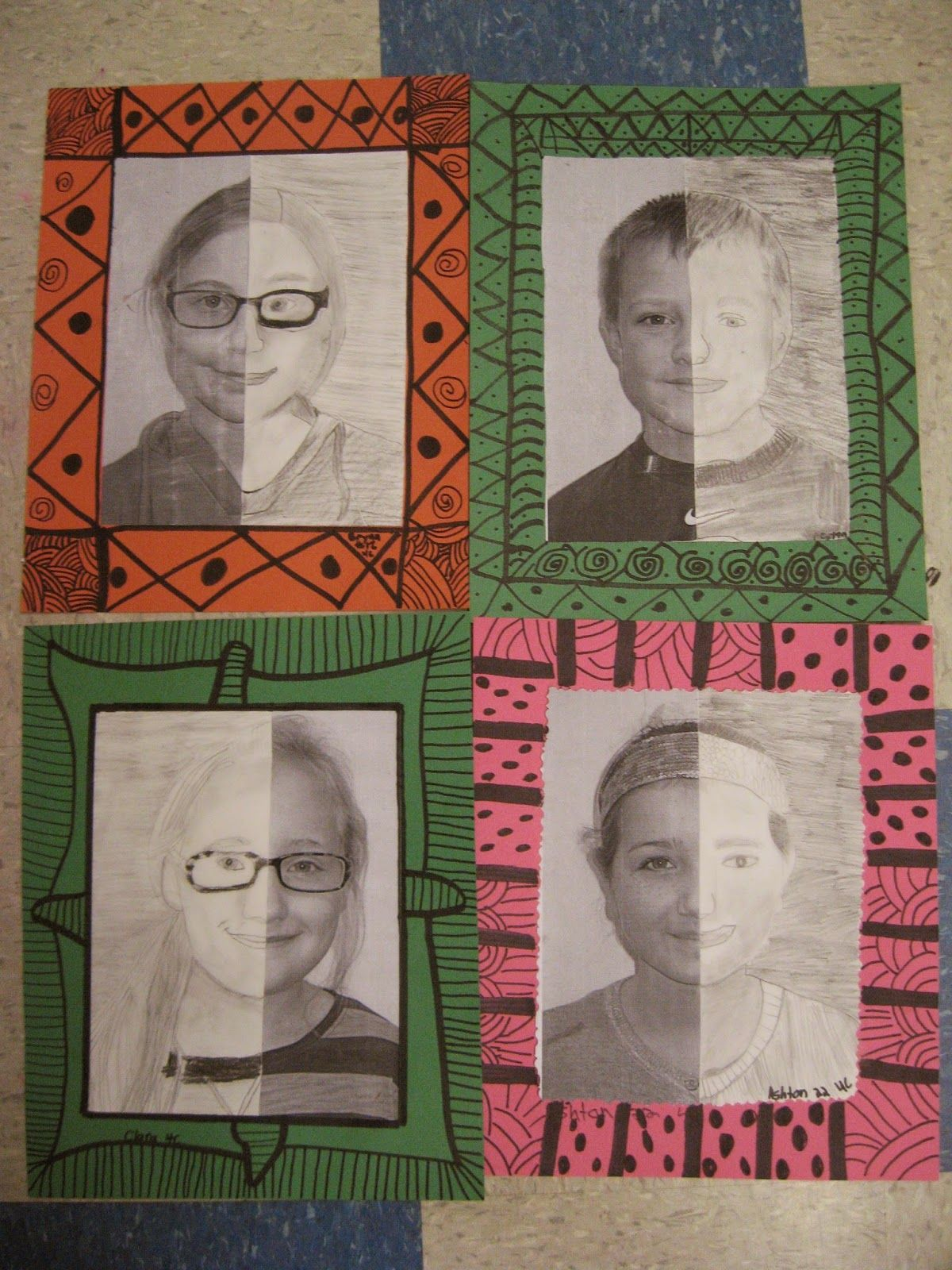 Jamestown Elementary Art Blog: 4th grade Mary Cassatt portraits