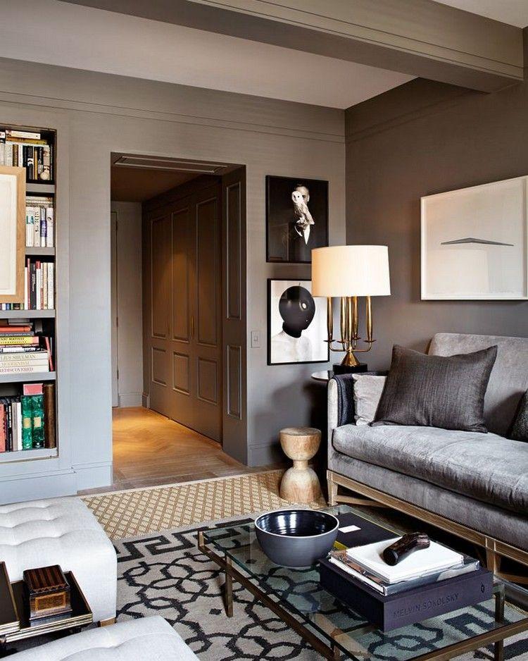 quelle couleur avec le taupe pour un salon moderne  canapé en