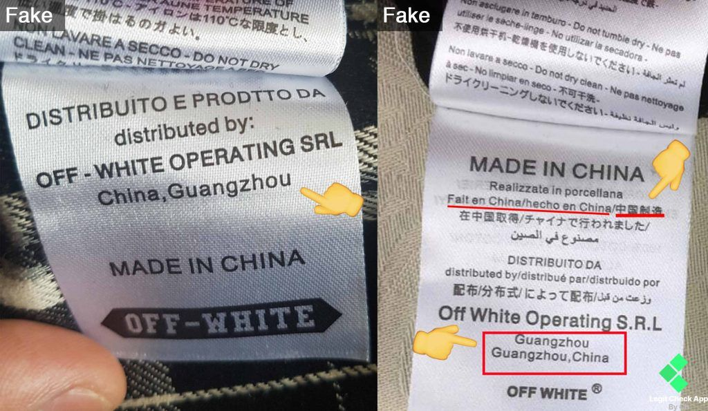 Legit Check Method 2 Fabrication Country Off White Wash Tag Guide Lca Off White Clothing Off White Off White Website