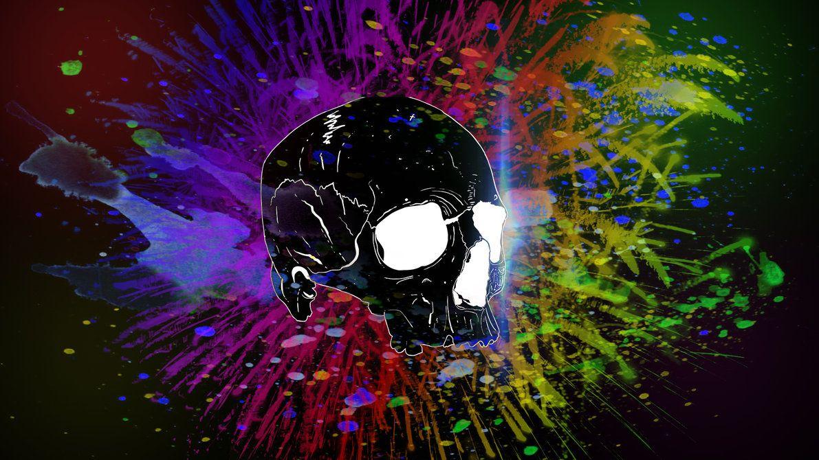 3d Colorful Skull Artwork Wallpaper Fanartworks Com Skull Wallpaper Hd Skull Wallpapers Cool Wallpapers Skull